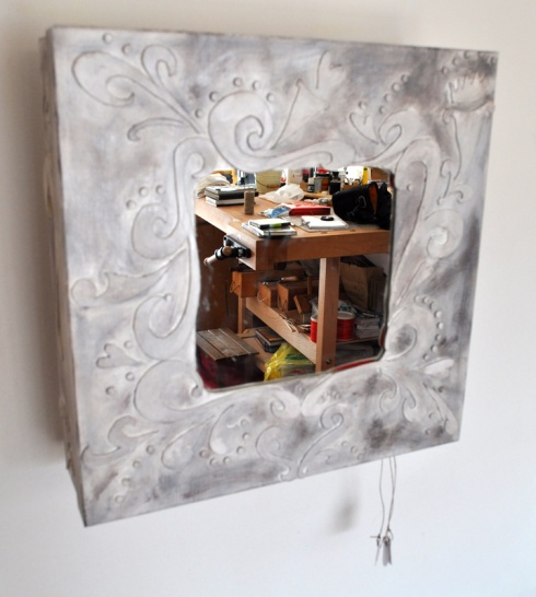 Mirror with mechanism, in my workshop