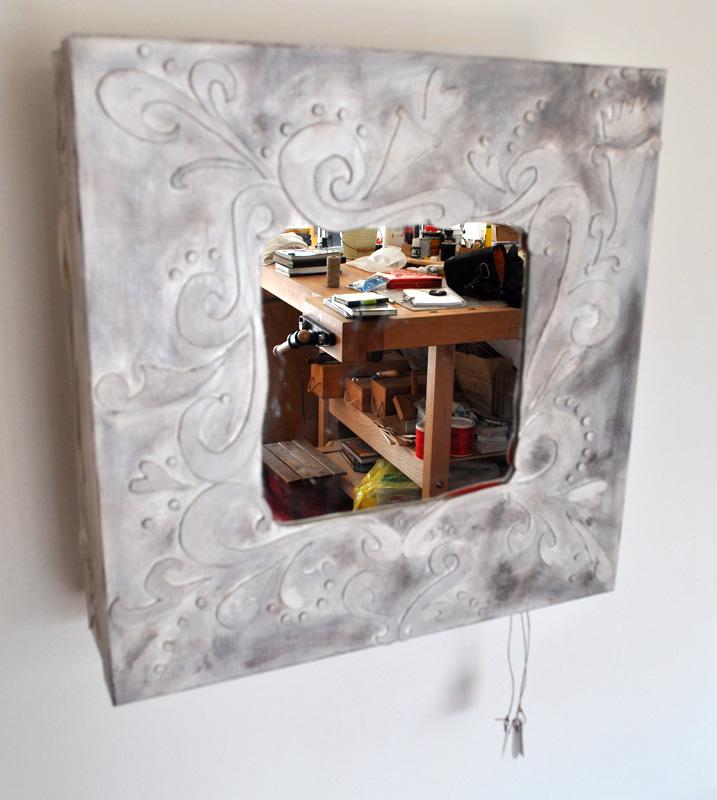 Mirror with mechanism, in my workshop