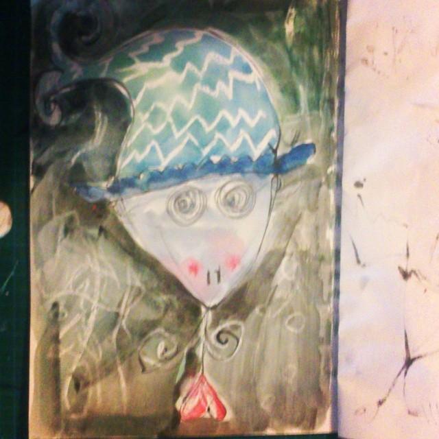 Meerjungfrau mit Mütze