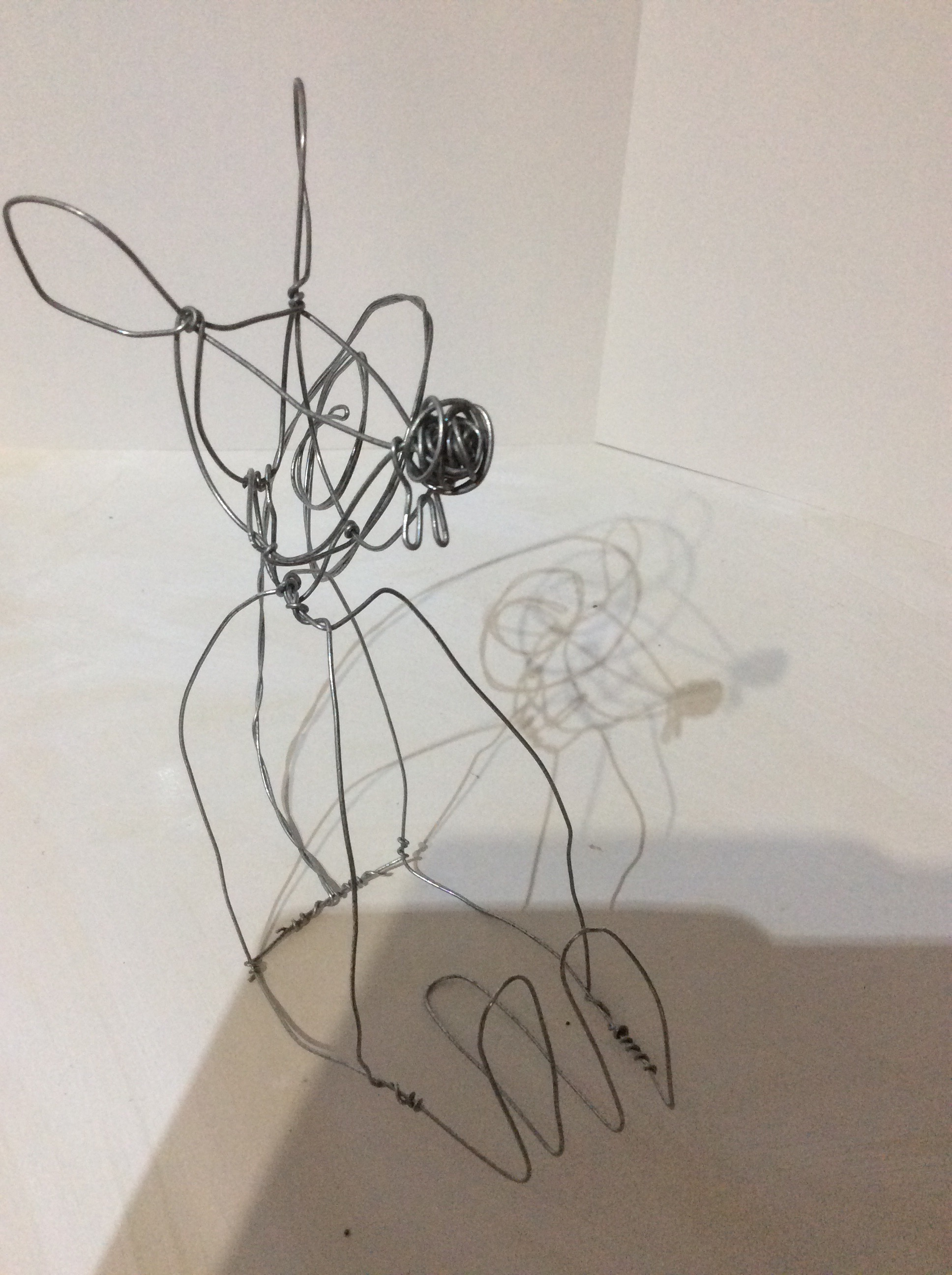 wire sculpture: mouse